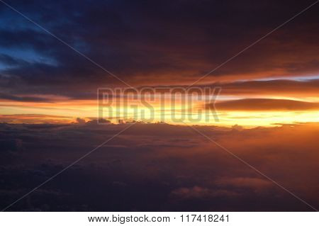 sunset sky view