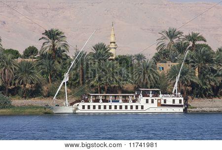 Felucca sailing boat, river Nile Egypt