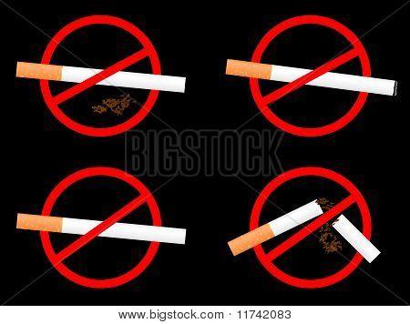 "Set Sign ""no Smoking"""