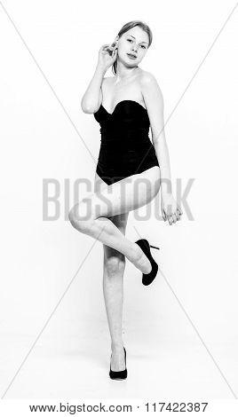 Woman Body Full Length Posing Studio