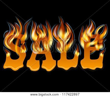 Sale Design with Fire and melting