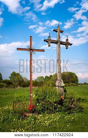 Christian Crosses countryside