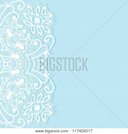 Decorative abstract background, ornate lace card or invitation