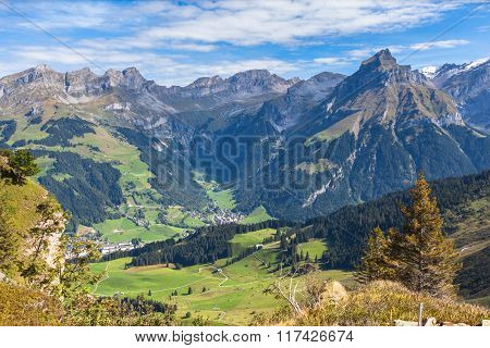 Swiss Alps In Central Switzerland