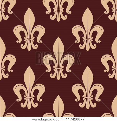 Brown and beige royal seamless pattern
