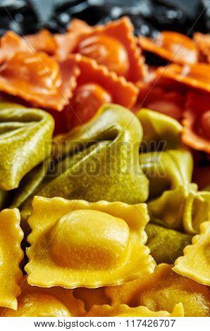 Stuffed Pasta Background