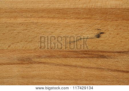Close Up Of Neutral Brown Freshly Processed Beech Plank