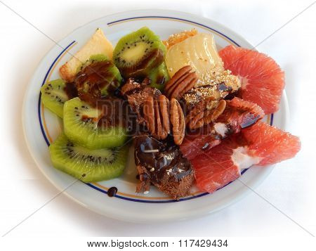 Breakfast plate with sweets