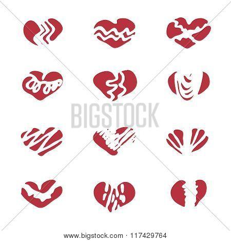 Love Set Unique Hand Drawn Icons