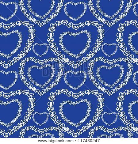 Love Seamless Pattern Romantic Doodle Hearts Unique