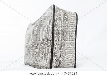 Vintage Gray Suitcase