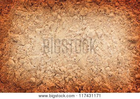 sand with darkened edges