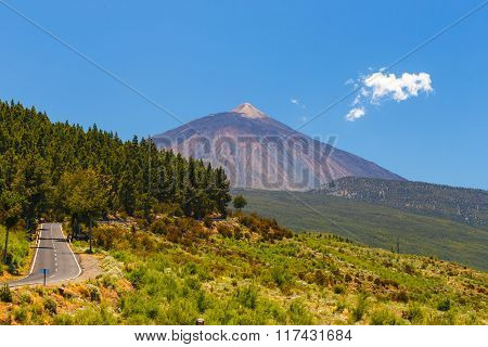 View Of The Volcano El Teide In Tenerife, Canary Islands, Spain