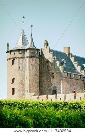 Old Castle Over Blue Sky