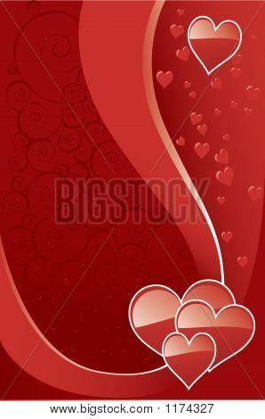 Shiny Hearts Valentine Background