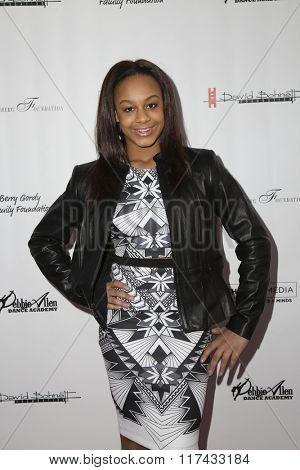 LOS ANGELES - FEB 4:  Nia Sioux Frazier at the Debbie Allen's Freeze Frame U.S. Premiere at the Wallis Annenberg Center for the Performing Arts on February 4, 2016 in Beverly Hills, CA