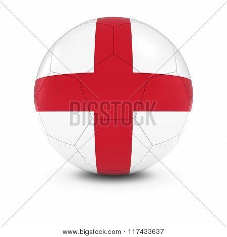 England Football - English Flag On Soccer Ball
