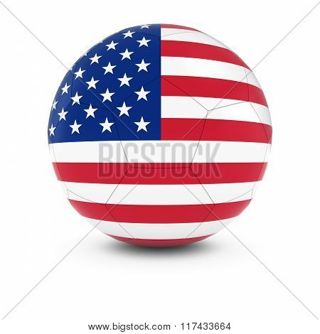 United States Football - American Flag On Soccer Ball
