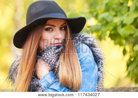 Pretty Girl In Park