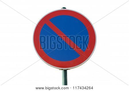 prohibited road sign stop isolated on a white background