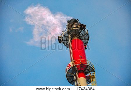 Natural gas flaring and venting systems on offshore platforms.