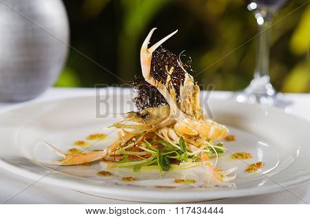 Seafood Main Course With Scampi