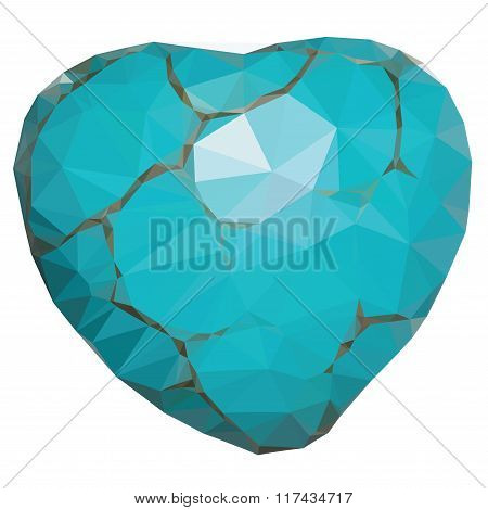 Geometric Turquoise Heart