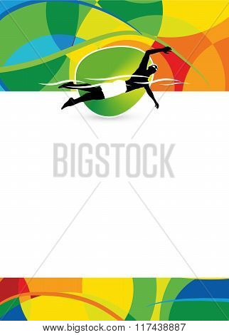 Swimming Sport Background