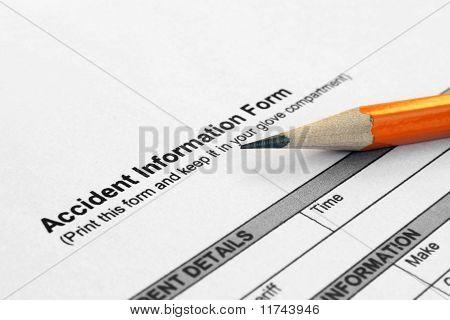 Unfall Informationsformular