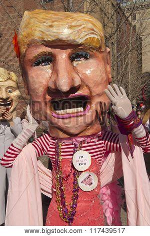 Trump Lookalike At Mardi Gras