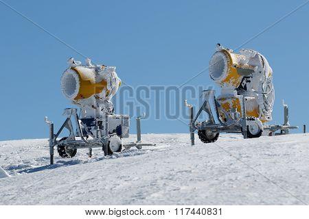 Two Yellow Snow Guns