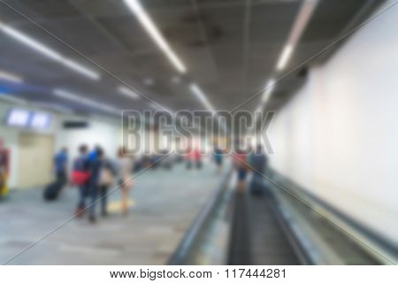 Abstract blur passenger in the airport