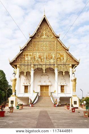 Wat Thatluang Neua in Vientaine, Laos