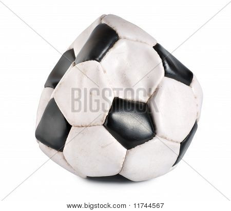 Deflated soccer ball