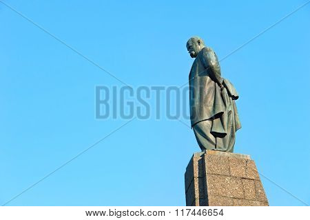 KIEV, UKRAINE - MAY 12, 2015: Taras Shevchenko monument in Kaniv Ukraine. Taras Shevchenko was a Ukrainian poet writer artist public and political figure.