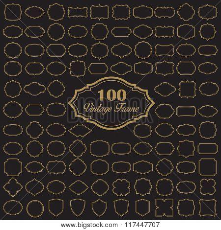 Set Of 100 Blank Vintage Frame