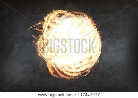 Abstract fire ball