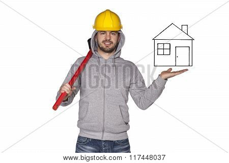 Builder Shows New House