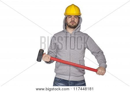 Worker Ready For Action