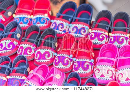 HMONG Handmade Hill Tribe Children's Shoes