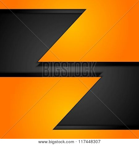 Orange corporate tech background. Vector bright graphic design for flyers, brochures, web templates