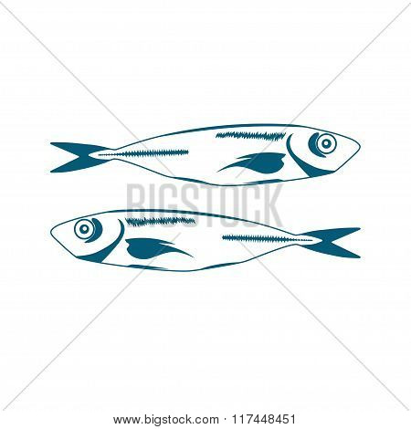 Two Blue Fishes