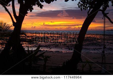 Sunset On Koh Libong, Thailand