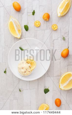 Citrus fruit mousse