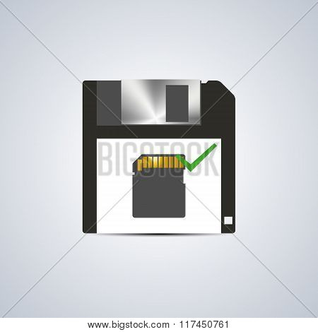 Icon Successful Write, Vector Illustration.