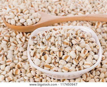 Millet Rice, Millet Grains On White Background