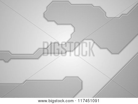 Abstract grey hi-tech light background. Vector graphic design template