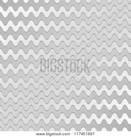 Abstract silver waves design pattern. Vector background illustration