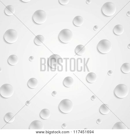 Abstract light grey circle balls background. Vector illustration template design
