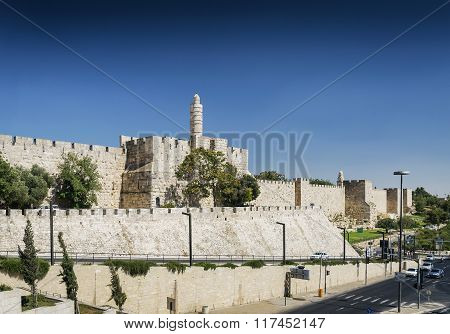 Old Town Citadel Walls Of Jerusalem Israel